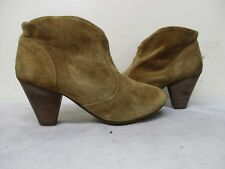 Steven by Steve Madden Pembrook Brown Suede Leather Ankle Boots Womens Size 7 M