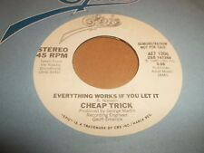 "CHEAP TRICK "" EVERYTHING WORKS IF YOU LET IT "" 7"" SINGLE PROMO / DEMO 1980"