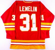 Rejean Lemelin Signed Calgary Flames Jersey (JSA COA)