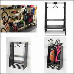 Gladiator Premier Series Welded Steel 2 Bag Golf Caddy Garage Wall Storage in Ha