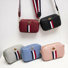 acb49a93c65431 Designer Striped PU Leather Quilted Bee Cross Body Quilted Shoulder Side Bag
