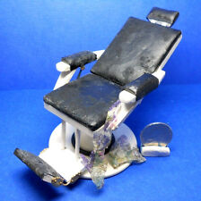 """Dollhouse Miniature Expertly Hand Aged """"Old"""" Barber Chair"""