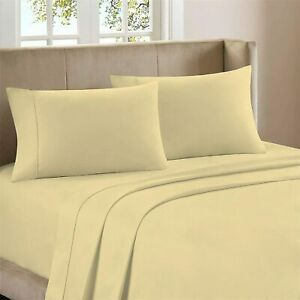 Premium 400-Thread-Count 100% Cotton 4 Piece Ultimate Percale Bed Sheet Set, Lig