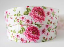 1M X 22mm Grosgrain Ribbon Craft DIY Cake Decorations Hair Bows Pink Rose