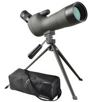 20-60x60mm Zoom Angled Spotting Scope Monocular Telescope w/ Tripod Soft Case