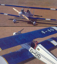4-40 Bipe   Sport RC Biplane Plans  to Build a Radio Control Model 48 inch wing