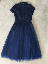 Chi Chi London High Neck Lace Midi Dress Size 10