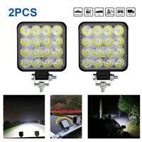 2X 48W LED Arbeitscheinwerfer Flutlicht Auto Lampe Strahler Scheinwerfer LKW SUV