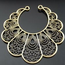 7pcs Vintage Gold Peacock Feather Charms Pendants Crafts Jewelry Accessories