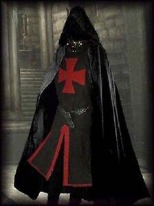 Medieval Cloak & Tunic Surcoat Crusader Costume Reenactment Theater Vintage LARP
