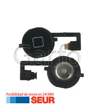 Repuesto Cable Flex Boton Home Plastico Negro para Iphone 4S 4GS