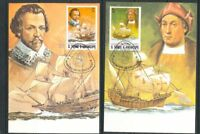 ST Thomas E Principe 1982 Ships Maxi Stamped Cards x 6 (D365)