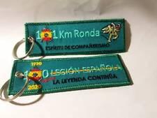 LLAVERO BORDADO DOBLE CARA 100 AÑOS LEGION & 101 KM RONDA ESPIRITU COMPAÑERISMO