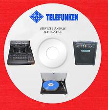 Telefunken Audio Repair Service owner manuals schematics on 1 dvd in pdf format