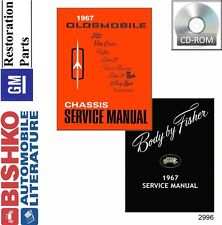 1967 Oldsmobile 98 88 442 Cutlass Shop Service Repair Manual CD OEM Guide