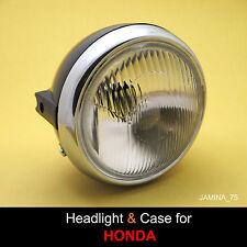 Honda XL100 XL125 XL175 XL250 XL350 MT125 MT250 Headlight 6 V + Trim Ring + Case