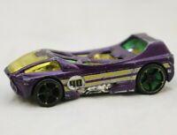 Hot Wheels Night Burner Die Cast Toy Car Racer Purple