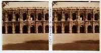 Anfiteatro Di Nimes Stereo Amateur Targa Di Vetro Pos. 1935