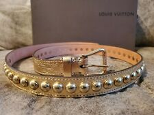 Authentic Louis Vuitton - Limited Edition, Gold colored Belt - Womens US Size 36