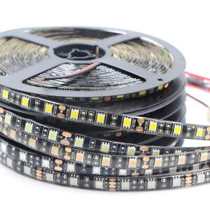 PCB Black LED Strip Light 5M SMD 5050 RGB 300 LED Waterproof Flexible tape lot