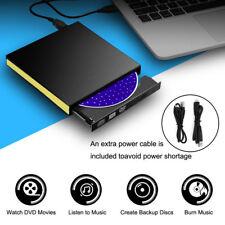 Externe USB 3.0 Slim DVD CD ROM Graveur Lecteur de boîte à disque Drive Portable