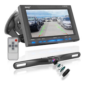 """Pyle PLCM7500 7"""" LCD Rearview Car Backup Camera and Monitor Reverse Assist Kit"""