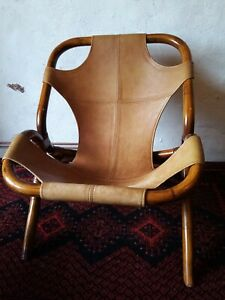 Fauteuil Rotin Cuir Vintage 1970 Style Colonial bambou scandinave italien ?