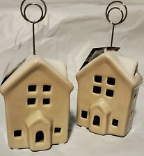 ST NICHOLAS SQUARE CERAMIC PICTURE DISPLAY HOUSE ~ SET OF 2 ~ SEVERAL AVAILABLE