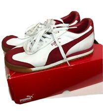 Puma Roma Shoes Size 6 PF EXT White Tango Red Classic Sneakers Tennis