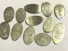 12 x Elongated Nickel Us 5-cent Pressed coins Lot, Disneyland, Disney, & Other