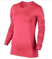 Nike Pro Warm Long Sleeve Shirt Thumbholes Bright Peach Dri-Fit $40 Girls S M L