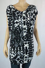 Crossroads Ladies Cap Sleeve Cowl Neck Tunic Top size 8 12 14 22 Splice Batik