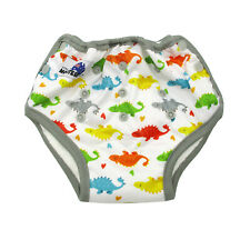 Colourful Dino Bamboo Toilet Training Pants Waterproof Adjustable Size + Pocket