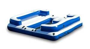Intex Oasis Island Inflatable Lake Seated Floating Water Lounge Raft - Open Box