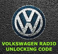 VW RADIO PIN CODE UNLOCK | RCD 200 210 300 310 500 510 GAMMA BETA RNS 310 315