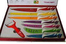Set di coltelli 7 pezzi ceramica colorata con pelatore cucina coltello knife set