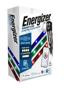 Energizer Smart LED Strip Lights Colour Changing RGB Flexi-Strip Dimmable 5M