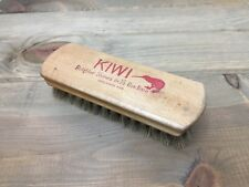 Vintage Kiwi 100% Horse Hair Brush Advertising Brighter Shine In 1/2 The Time
