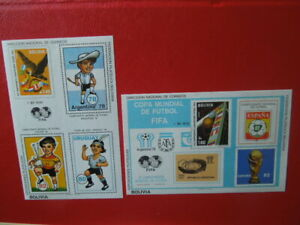 G2817 BOLIVIA   1978  WORLD  CUP  SOCCER     2  X   IMPERF S/S   MNH