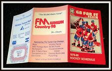 1979-80 KALAMAZOO WINGS WNWN FM HOCKEY POCKET SCHEDULE EX+NM CONDITION FREE SHIP