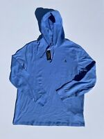 NEW Polo Ralph Lauren Men's BSR BLUE Long Sleeve Hooded T-Shirt