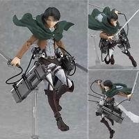 Attack On Titan Shingeki no Kyojin Levi Figma 14cm PVC Action Figure Model 213