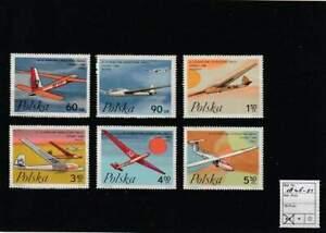 Polen postfris 1968 MNH 1846-1851 - Zweefvliegtuigen / Airplanes