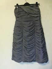 Smart Classic Strapless Ruched Grey Dress Size 12 for special occasions