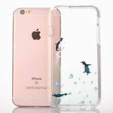 Unicorn Cat Soft Bumper Clear Acrylic Hard Back Case Cover For iPhone 8 6 7 Plus