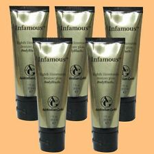 5 AUSTRALIAN GOLD INFAMOUS  BODY BLUSH PACKET TANNING BED LOTION SAMPLE