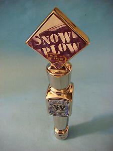 BEER Keg Kegorator Tap Handle ~ WIDMER BROTHERS Snow Plow Milk Stout ~ OREGON