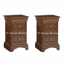 Comtempory Bedside Cabinets of Shesham Wood  45 X 65 X 40 Cms in Brown Colour