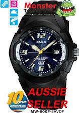 AUSSIE SELER CASIO WATCH MW600 MW600F MW-600F-2AV 100-METRES 12-MONTH WARRANTY