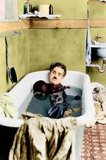 CHARLIE chaplin PAY DAY movie still poster BATHTUB HIGH QUALITY SHOT 24X36